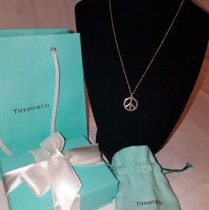 "Tiffany & Co. Jewelry - AuthenTiffany & Co. ""LOVE PEACE "" necklace"